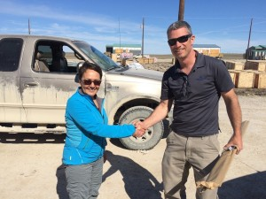 Cambridge Bay Mayor Jeannie Ehaloak was pleased with the work too.